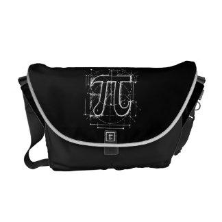 Pi数スケッチ メッセンジャーバッグ