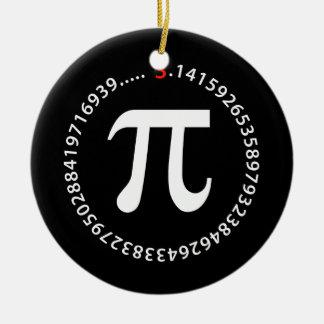 Pi数デザイン セラミックオーナメント