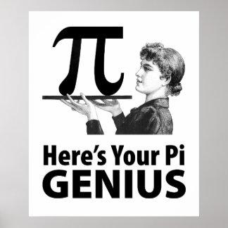 Pi数ユーモア ポスター
