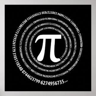 Pi数螺線形のデザイン ポスター