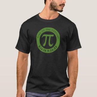 Pi日の軽くか暗いワイシャツのための2015年のワイシャツの緑 Tシャツ
