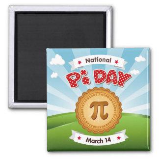 Pi日は、数学を、食べますパイを祝います! マグネット