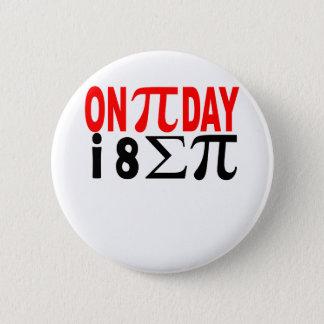 Pi日I 8つの合計Pi。 5.7cm 丸型バッジ