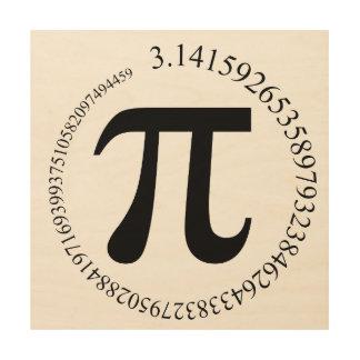 Pi (π)日 ウッドウォールアート