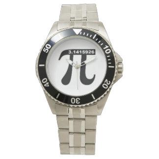 Pi 3.14の数学の腕時計(ステンレス鋼) 腕時計