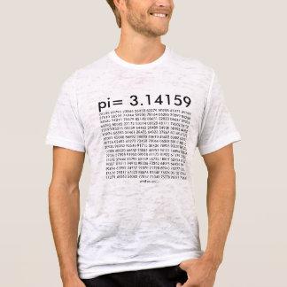 pi= 3.14159の数学科学のファッションpi日ディジット tシャツ