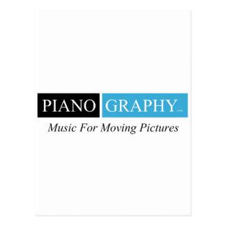 PianoGraphy.comの郵便はがきの垂直 ポストカード