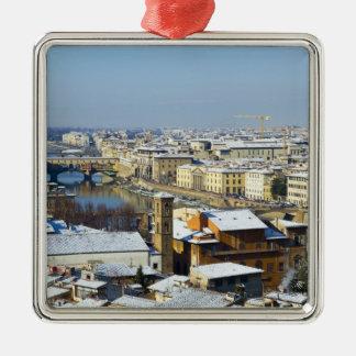 Piazzale 2からのフィレンツェの景色 メタルオーナメント