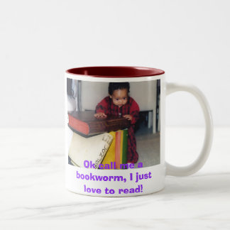 pic7のOkは私を本の虫と、私ちょうど読むことを愛します電話します! ツートーンマグカップ