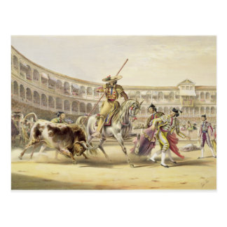 Picador 1865年を満たすBull (色のlitho) ポストカード