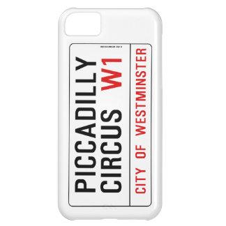 Piccadillyのサーカスの道路標識 iPhone5Cケース