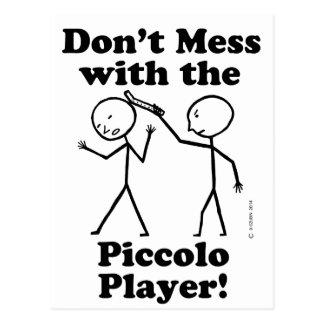 Piccoloプレーヤーと台なしにしないで下さい ポストカード