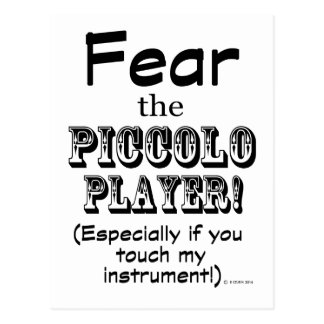 Piccoloプレーヤーを恐れて下さい ポストカード