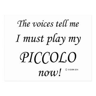 Piccolo声は遊ばなければなりません言います ポストカード