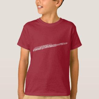 Piccolo定形単語の芸術の白の文字 Tシャツ