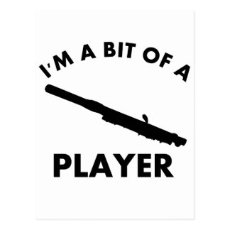 Piccolo楽器のデザイン ポストカード