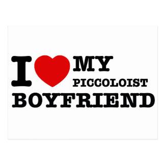 Piccoloistのボーイフレンドのデザイン ポストカード