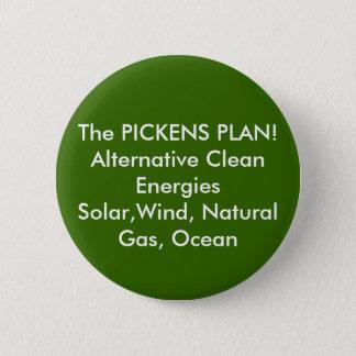 PICKENSの計画! 代わりとなるきれいなEnergiesSol… 缶バッジ