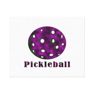 pickleballによって曇らせている紫色の文字nの球.png キャンバスプリント