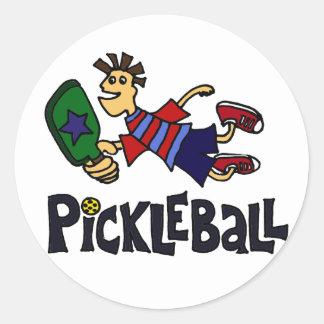 Pickleballのおもしろいな跳躍の男 ラウンドシール