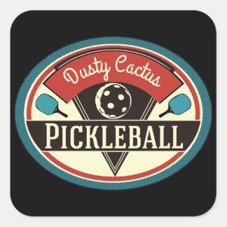 Pickleballのチームステッカー-ヴィンテージのデザイン スクエアシール