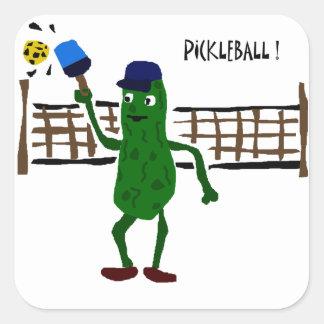 Pickleballの原住民の芸術を遊ぶピクルス スクエアシール