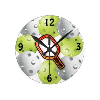 Pickleballの時計(媒体) ラウンド壁時計