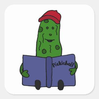 Pickleballの本を読むおもしろいなピクルス スクエアシール