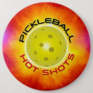 Pickleballの熱い打撃1のイメージの選択 缶バッジ