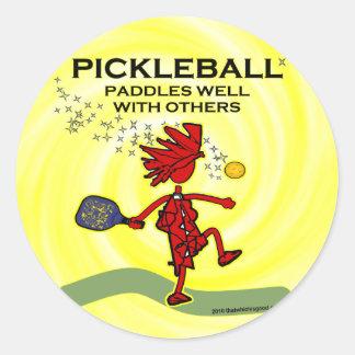 Pickleballは他とよく漕ぎます ラウンドシール