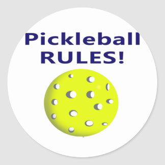 pickleballは青いテキストバージョンを支配します ラウンドシール