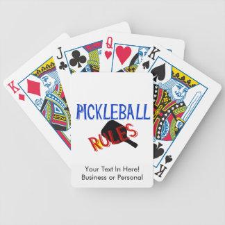 pickleballはberniceの赤く黒く青いかいを支配します バイスクルトランプ