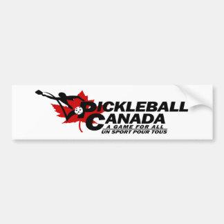 Pickleballカナダのロゴのバンパーステッカー バンパーステッカー