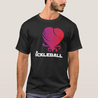 Pickleball愛-ファンシーなハート Tシャツ