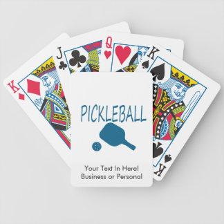 pickleball wのかいおよび球のティール(緑がかった色) バイスクルトランプ