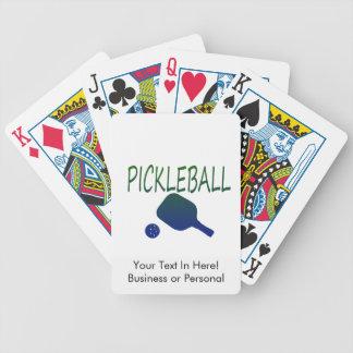 pickleball wのかいおよび緑化するべき球の青 バイスクルトランプ