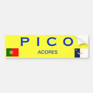 PICOアゾレスの島のバンパーステッカー バンパーステッカー