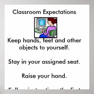 Picture1の教室のExpectationsKeep手、料金… ポスター