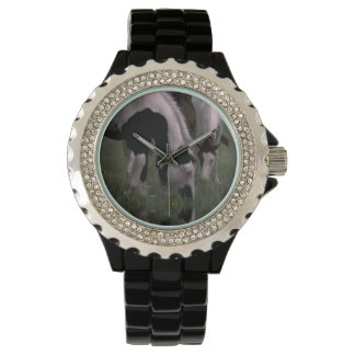 Piebald_Horses、_Ladies_Sparkle_Wrist_Watch. 腕時計