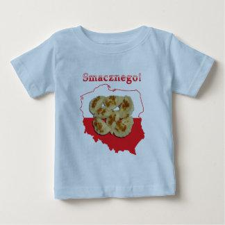 Pierogi Smacznegoのポーランドの地図 ベビーTシャツ