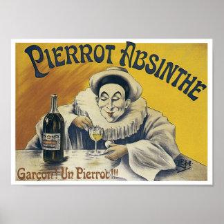 Pierrotのアブサン ポスター