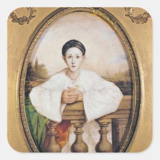Pierrot、c.1815としてギャスパールDeburauのポートレート スクエアシール