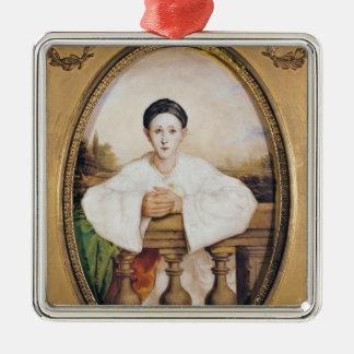Pierrot、c.1815としてギャスパールDeburauのポートレート メタルオーナメント