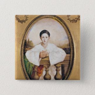 Pierrot、c.1815としてギャスパールDeburauのポートレート 5.1cm 正方形バッジ