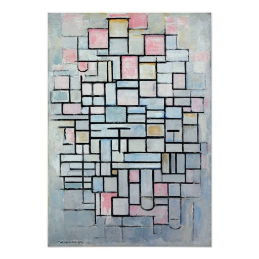 Piet Mondriaanの構成第IV ポスター