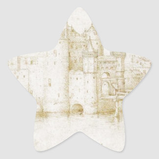 Pieter著アムステルダムの壁タワーそしてゲート 星シール