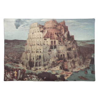 - Pieter Bruegelバベルの塔年長者 ランチョンマット