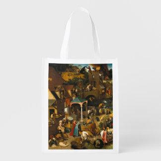 Pieter Bruegel年長者-オランダの諺 エコバッグ