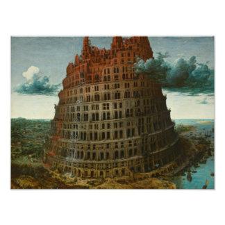 Pieter Bruegel年長者-バベルの塔 フォトプリント