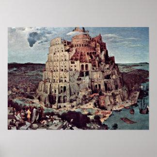 Pieter Bruegel年長者-バベルの塔 ポスター